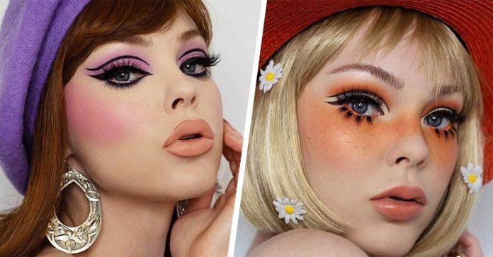 18 Maquillajes inspirados en los años 60 para tus fotos de Instagram |  Tendencias 24