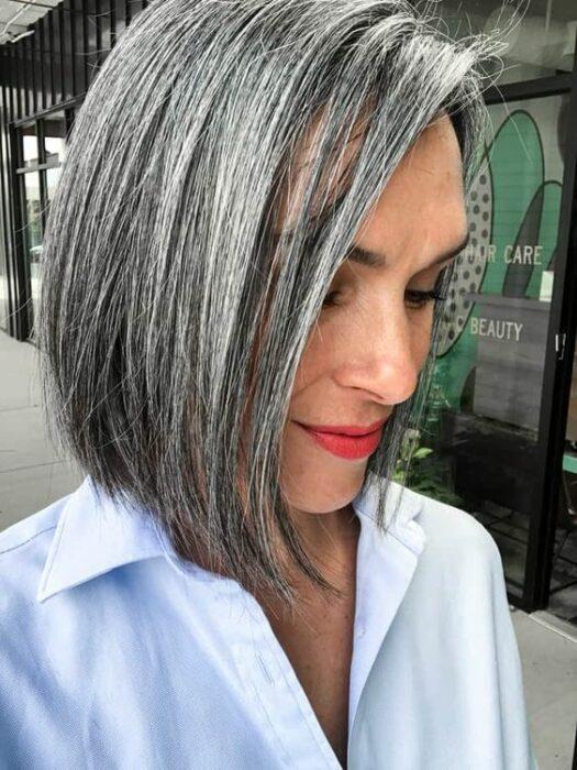 Oportunidades impresionantes peinados con canas Imagen de tutoriales de color de pelo - 21 Peinados para presumir y llevar tus canas con orgullo ...