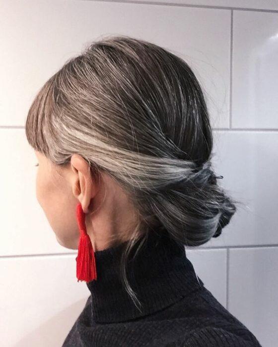 Exquisito peinados con canas Fotos de ideas de color de pelo - 21 Peinados para presumir y llevar tus canas con orgullo ...